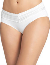 Warner's® White No Pinch Lace Trim Hipster Panties