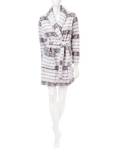 Laura Ashley Fair Isle Print Robe