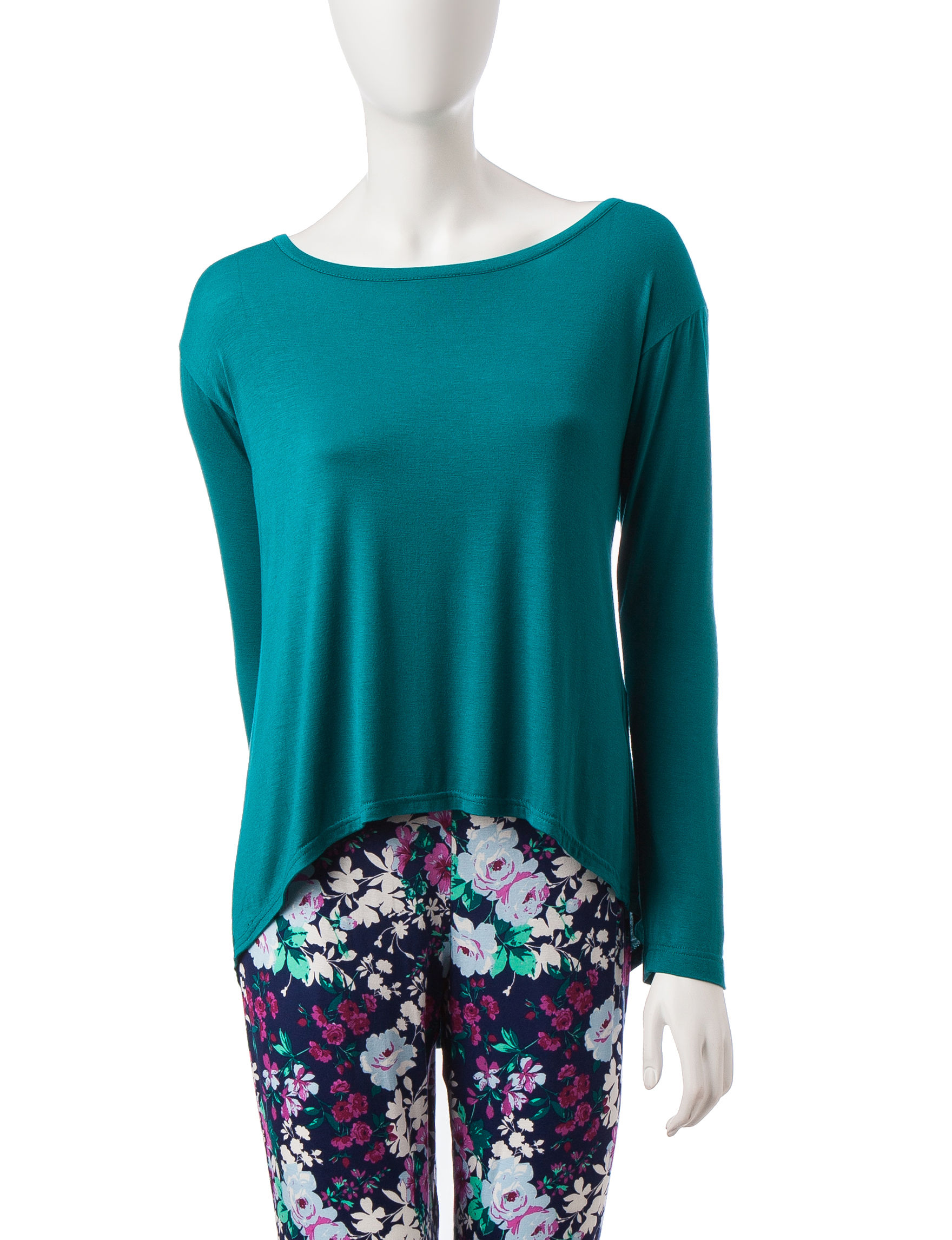 Lissome Turquoise Pajama Tops