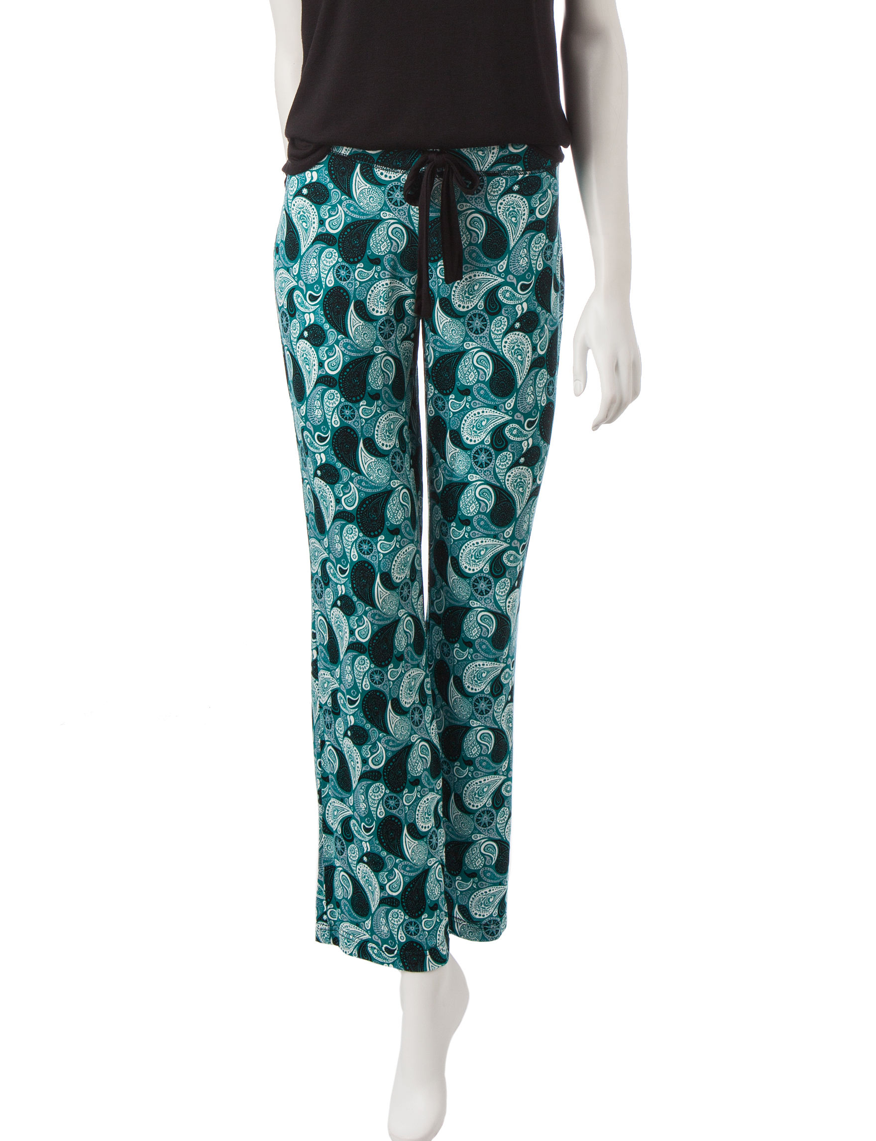 Lissome Turquoise Pajama Bottoms