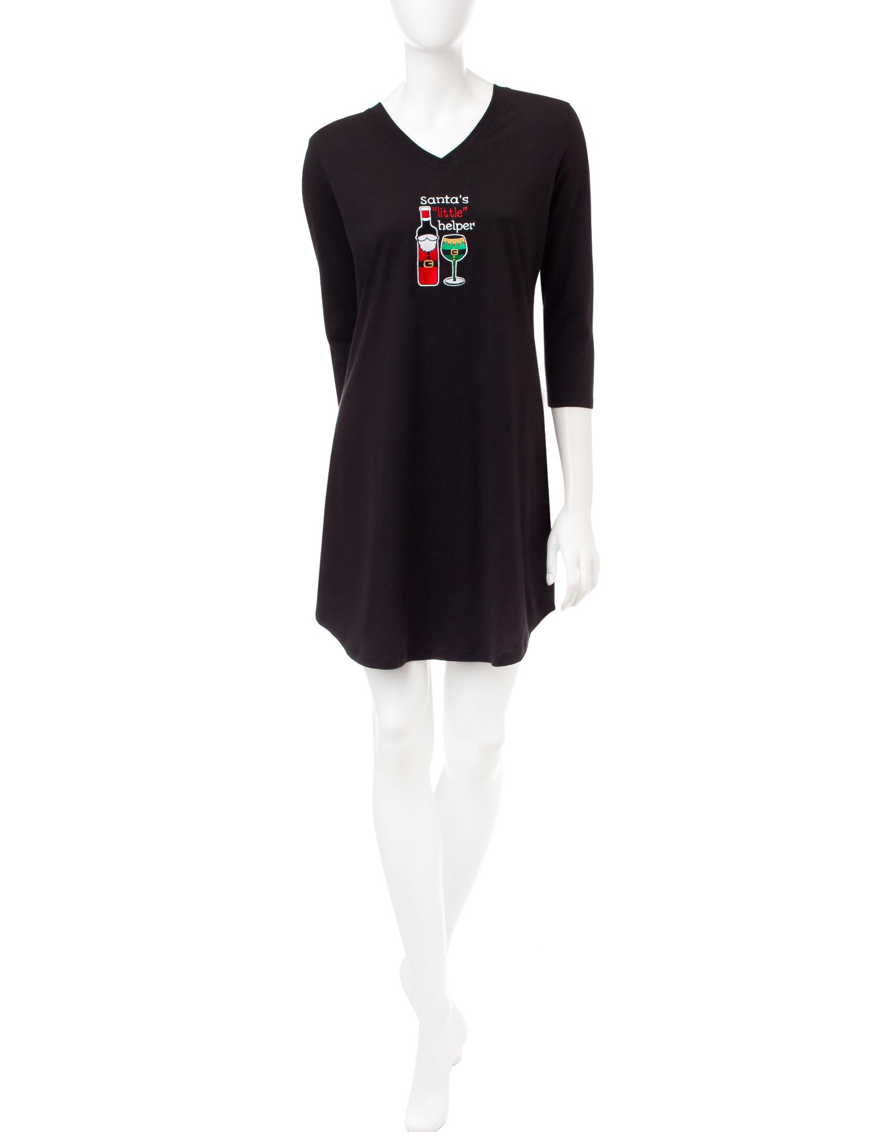 Pillow Talk Black Nightgowns & Sleep Shirts