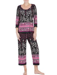 Linea Donatella Black Pajama Sets