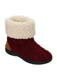 Dearfoams Cable Knit Bootie