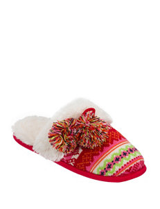 Dearfoams Sweater Knit Fair Isle Print Slippers