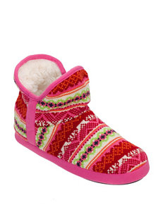 Dearfoams Multicolor Fair Isle Print Booties
