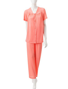 Vanity Fair Tricot 2-pc. Solid Color Pajamas