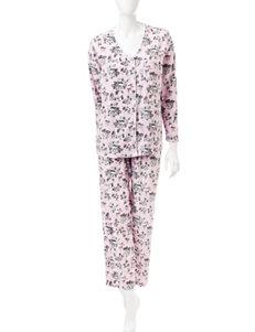 Rene Rofe Black / Pink Pajama Sets