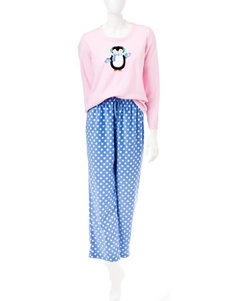 Pillow Talk 2-pc. Penguin Polka Dot Print Pajamas