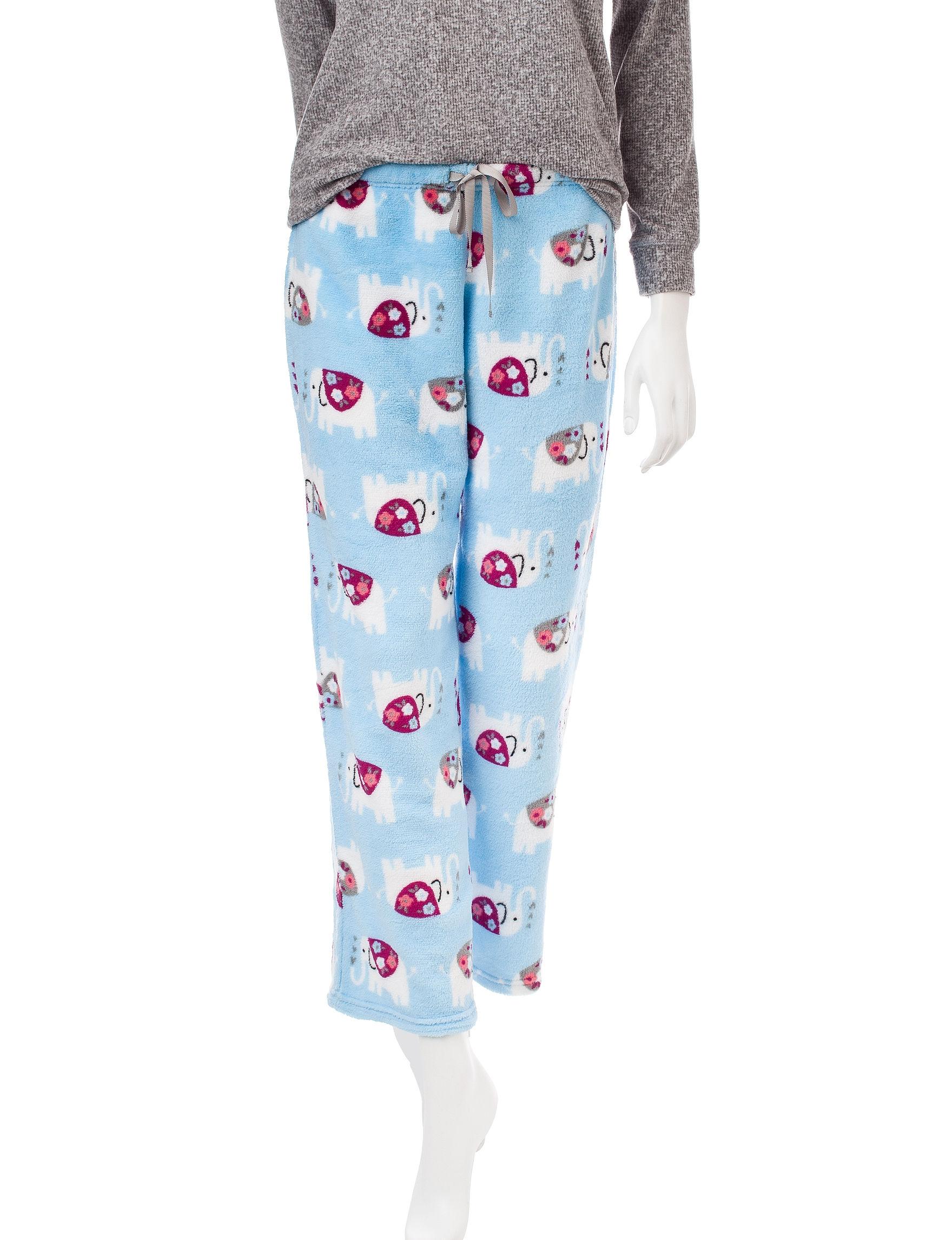 Wishful Park Blue Multi Pajama Bottoms