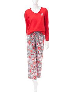 Hannah Red Pajama Sets