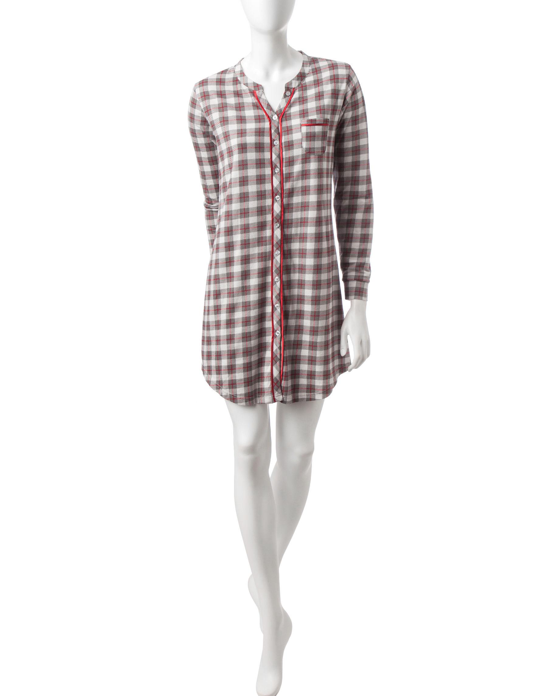 Hanes Grey Plaid Nightgowns & Sleep Shirts