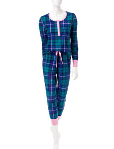 Wishful Park Green Plaid Pajama Sets