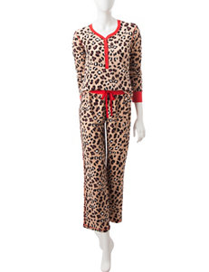 PJ Couture Brown Pajama Sets