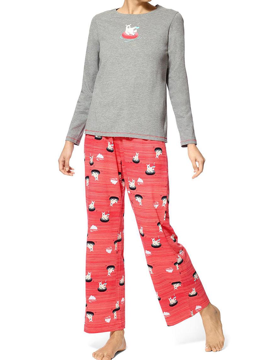Hue Grey Pajama Sets