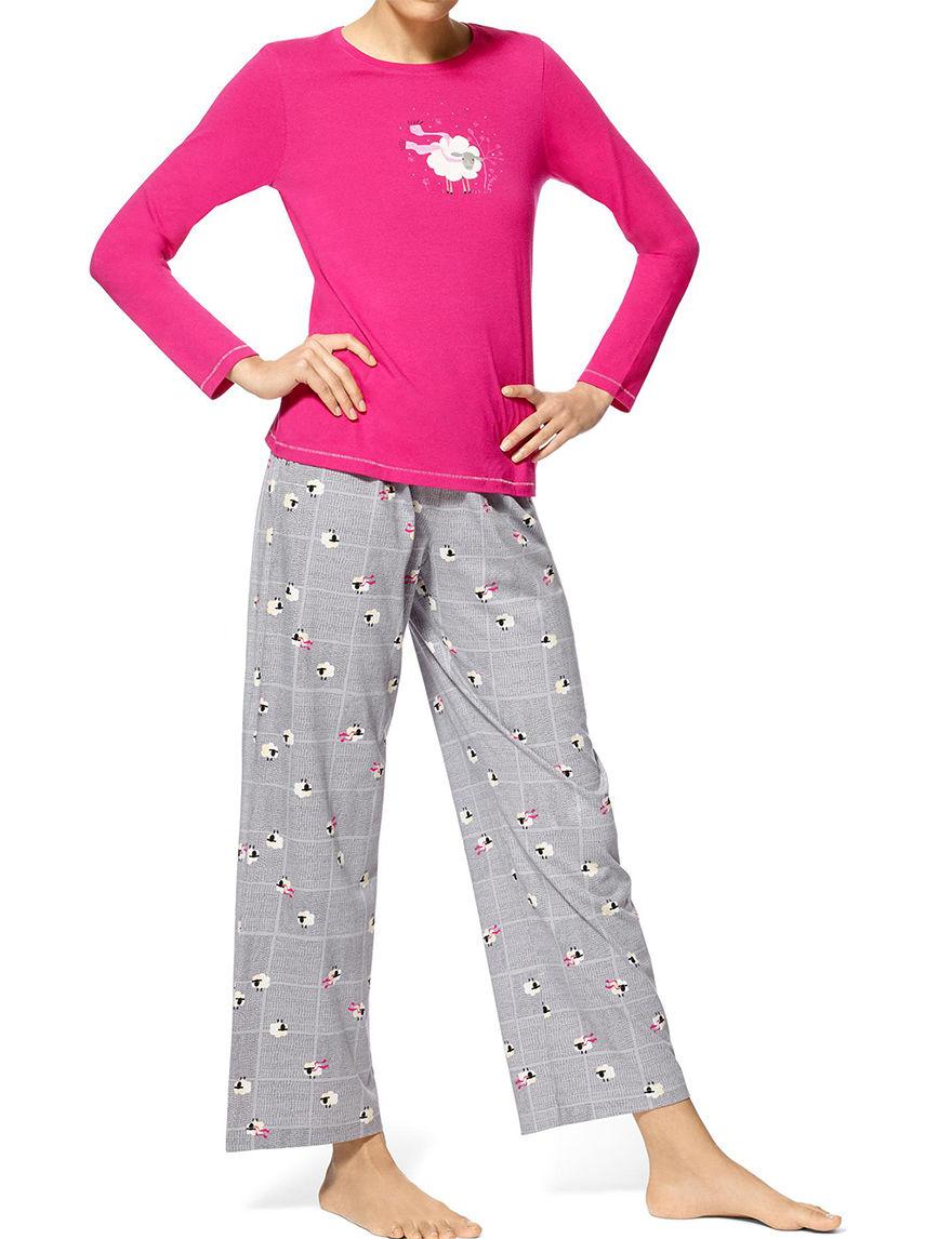Hue Plus Size 3 Pc Sheep Print Pajamas Stage Stores
