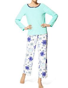 Hue Aqua Pajama Sets