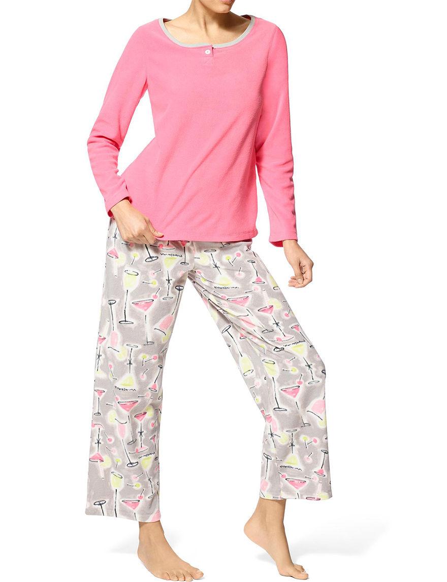 Hue Pink Pajama Sets