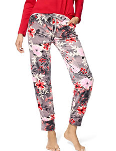 Hue® Plus-size Holiday Berry Floral Print Pajama Pants