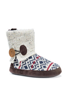 MUK LUKS Patti Diamond Knit Boot Slippers