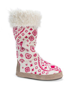 MUK LUKS Maleah Paisley Print Boot Slippers