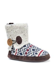 MUK LUKS Patti Diamond Knit Boot Slippers