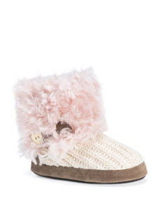 MUK LUKS Patti Rib Knit Boot Slippers