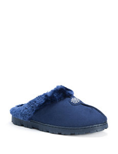 MUK LUKS Faux Fur Clog Slippers