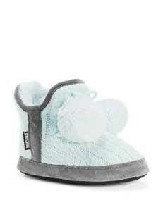 MUK LUKS Pennley Knit Bootie Slippers