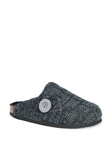 MUK LUKS Cable Knit Clog Slippers