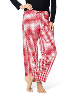 Hue Red Pajama Bottoms
