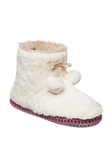 PJ Couture White Slipper Boots & Booties