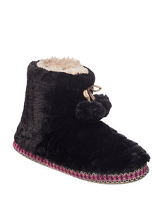 PJ Couture Black Slipper Boots & Booties