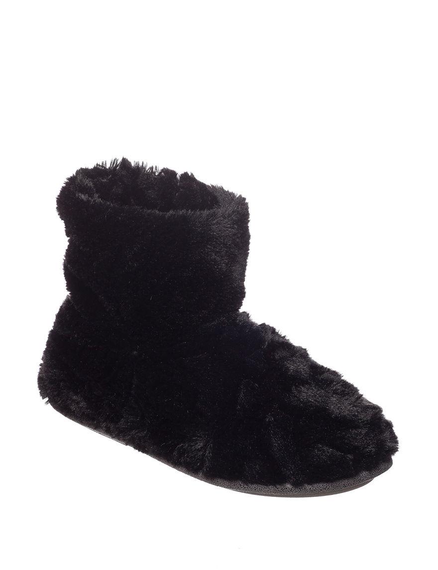 Cuddl Duds Notch Fur Bootie Slippers | Stage Stores