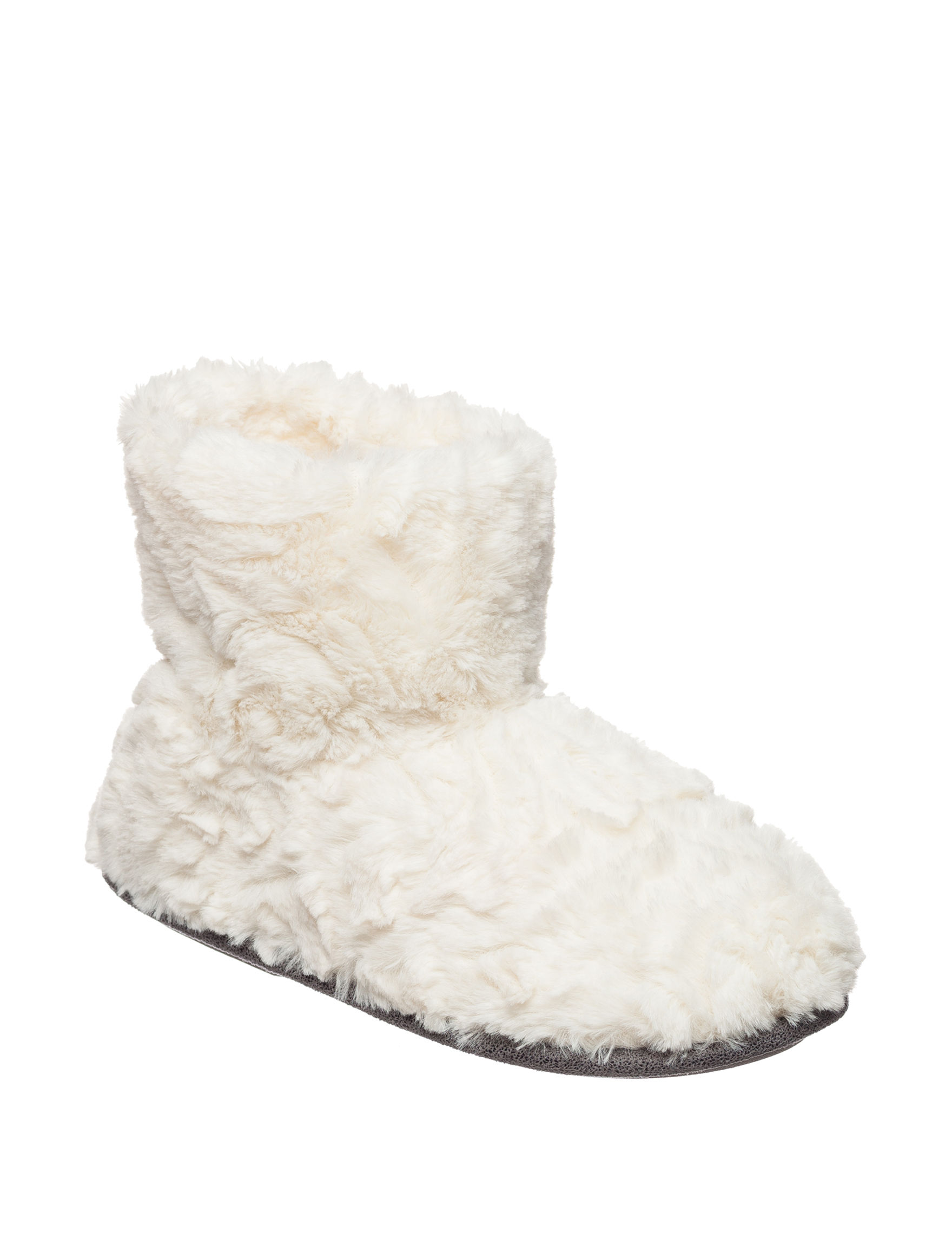 Cuddl Duds Ivory Slipper Boots & Booties