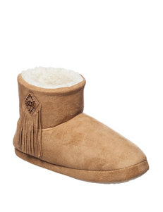PJ Couture Camel Slipper Boots & Booties