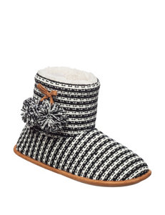 Chill Chasers Black Slipper Boots & Booties