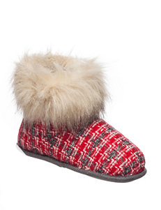 Cuddle Duds Red Slipper Boots & Booties