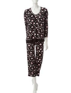 Ellen Tracy Black Pajama Sets
