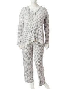 Ellen Tracy Green Pajama Sets