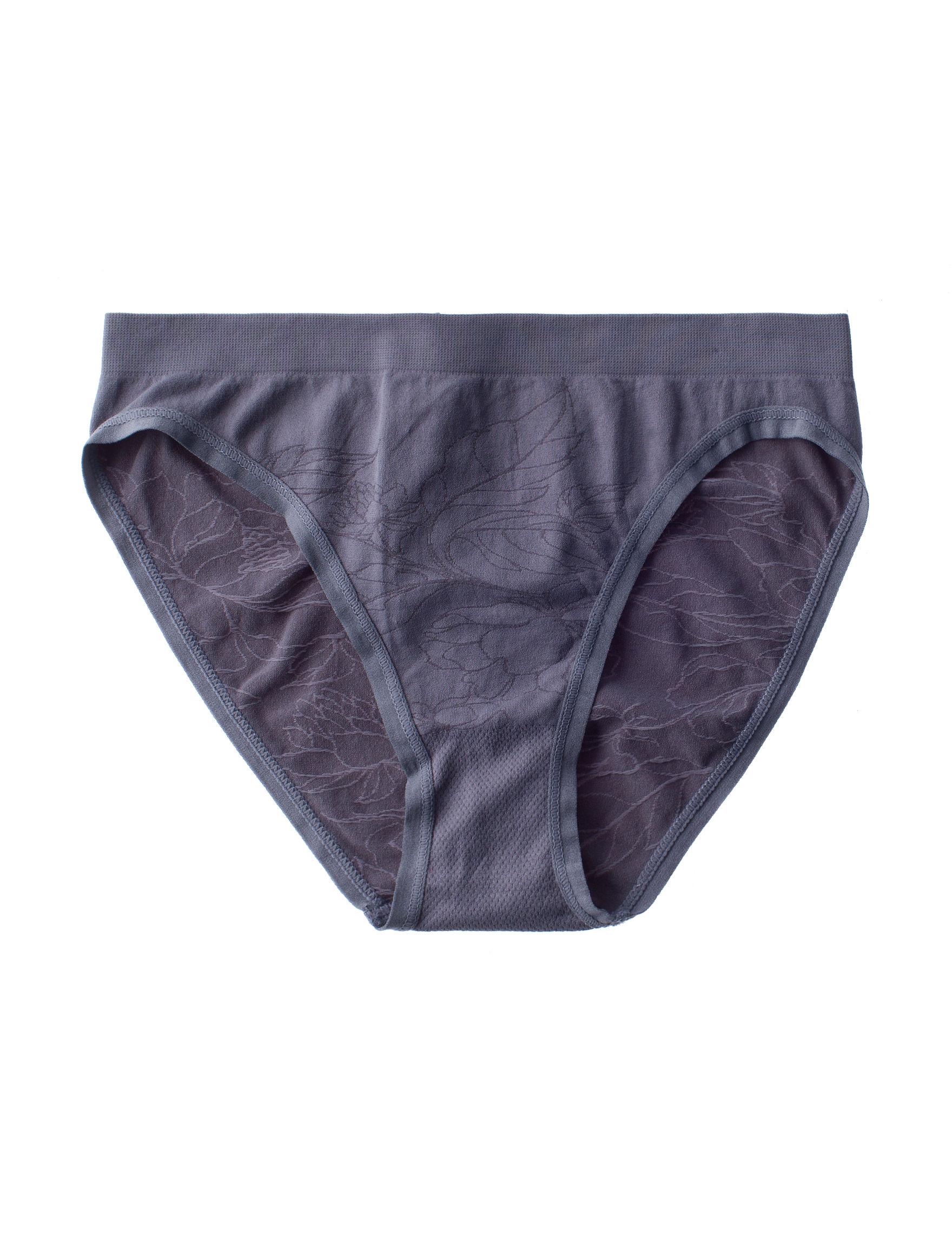 Rene Rofe Grey Panties Briefs High Cut Seamless