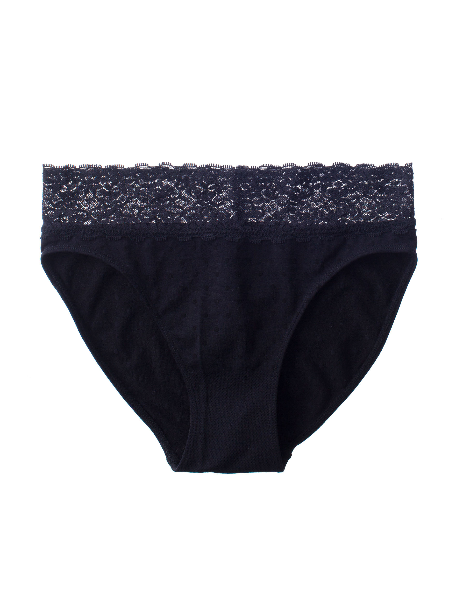 Rene Rofe Black Panties Briefs High Cut Seamless