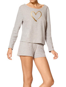 Hue Heather Grey Pajama Tops