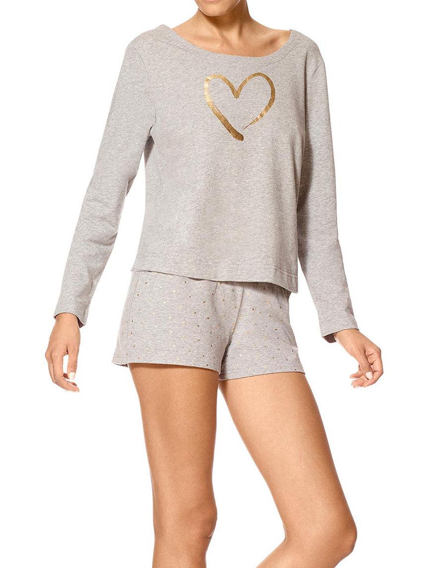 Hue Heather Grey Pajama Tops