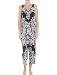 Linea Donatella Black / Ivory Robes, Wraps & Dusters
