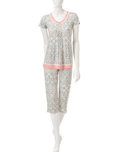 Ellen Tracy Natural Pajama Sets