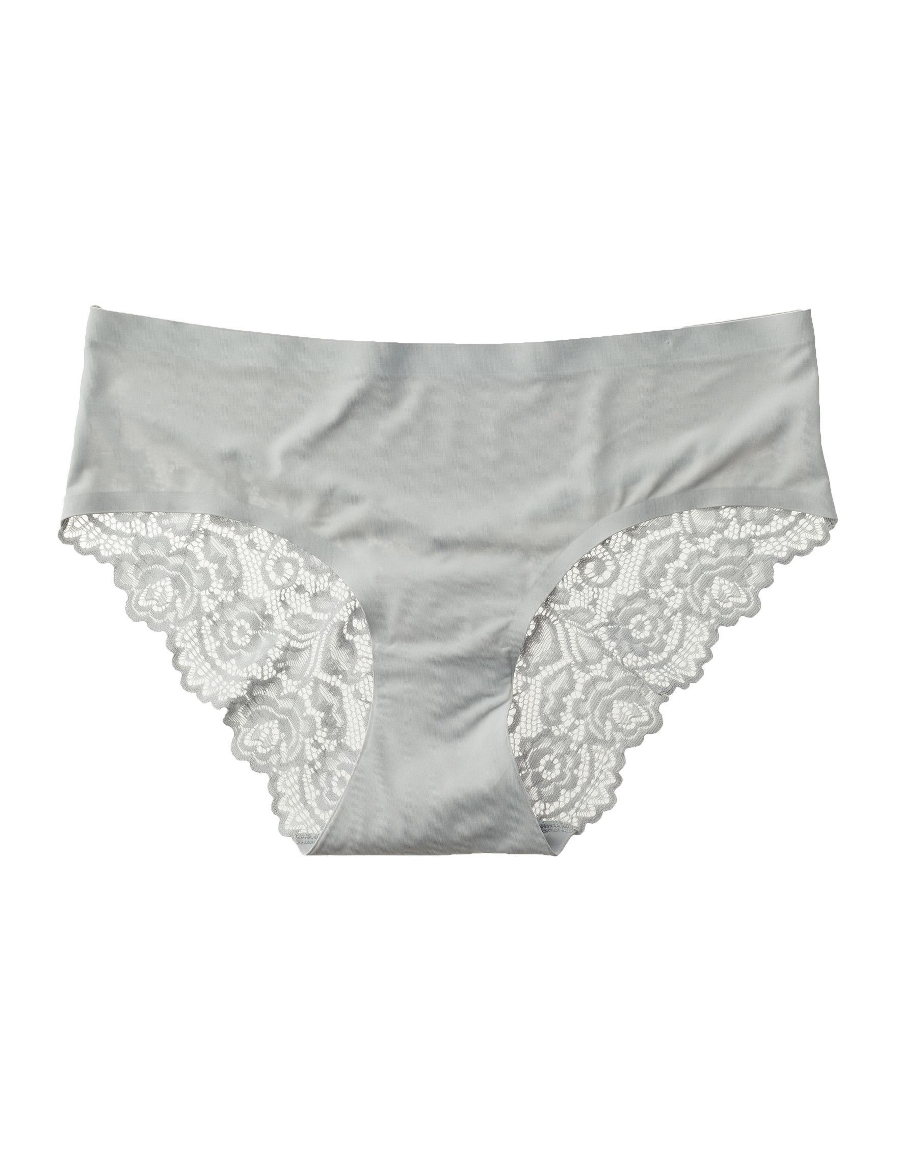 Rene Rofe Grey Panties High Cut Hipster