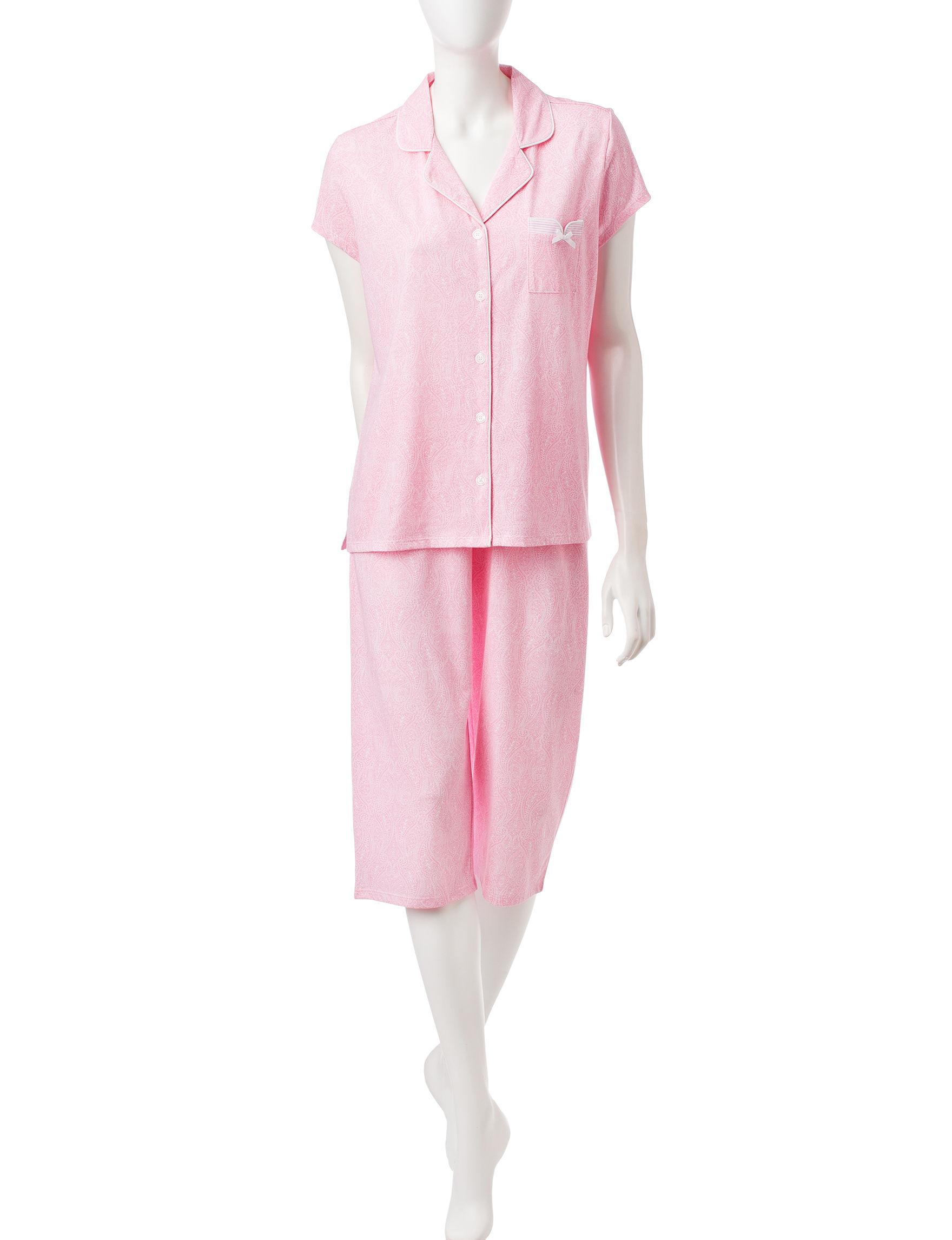 Laura Ashley Pink Multi Pajama Sets
