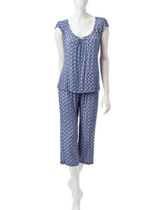 Laura Ashley Navy Multi Pajama Sets