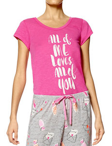 Hue Pink / Black Pajama Tops