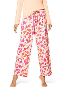 Hue White Multi Pajama Bottoms